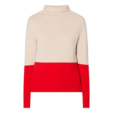 Fosalie Block Panel Sweater, ${color}