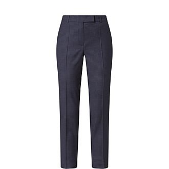 Tristella Check Cropped Trousers