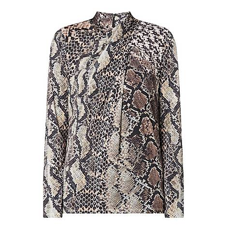 Keilani Snakeskin Print Top, ${color}