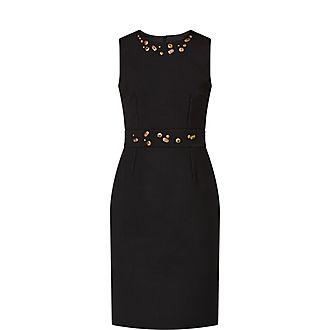 Jewel Studded Mini Dress