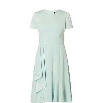Satin Backed Crepe Dress