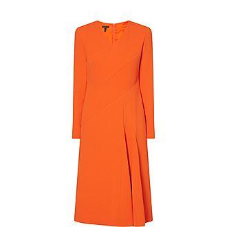 Long-Sleeved Midi Dress