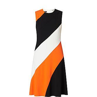 Colourblock Sleeveless Dress