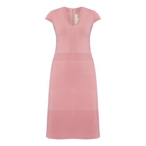 Knit V-Neck Dress, ${color}