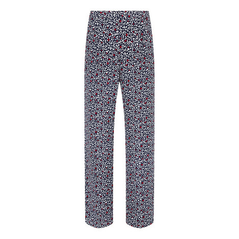 Heart Print Palazzo Trousers, ${color}