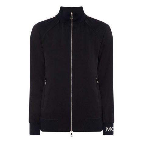 Satin Zip-Through Sweatshirt, ${color}
