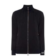 Satin Zip-Through Sweatshirt