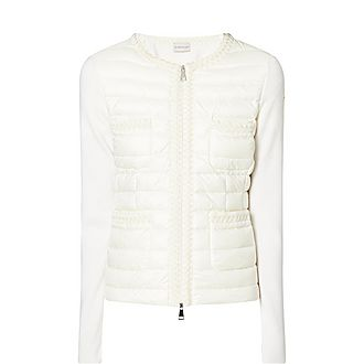 Quilted Knit Sleeve Jacket