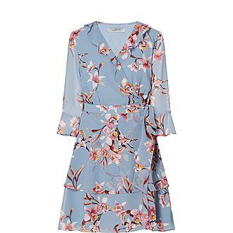 Ikebana Wrap Dress