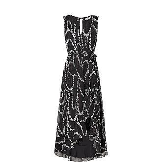 Ines Sleeveless Maxi Pattern Dress