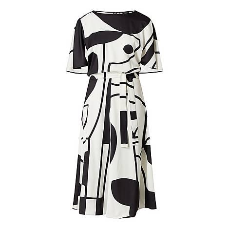 Abstract Print Dress, ${color}