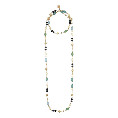 Bead Pearl Necklace, ${color}