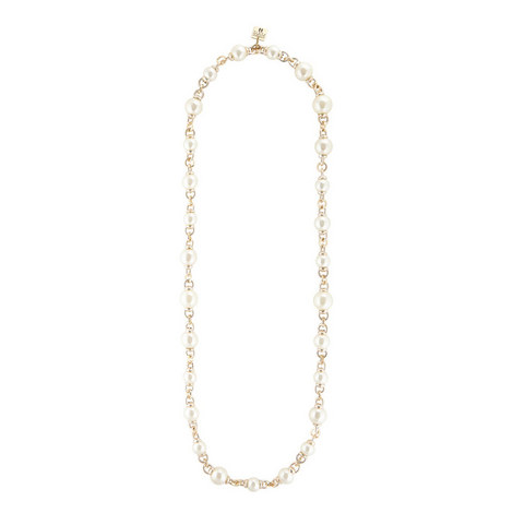 Long Large Pearl Necklace, ${color}