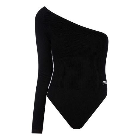 One Shoulder Bodysuit Top, ${color}
