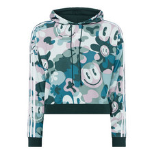 Smiley Face Cropped Hoodie