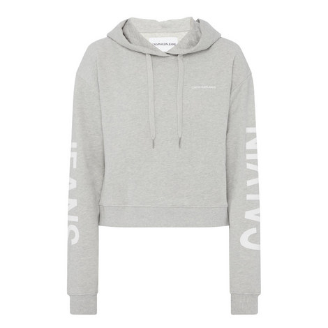 Cropped Logo Hoodie, ${color}