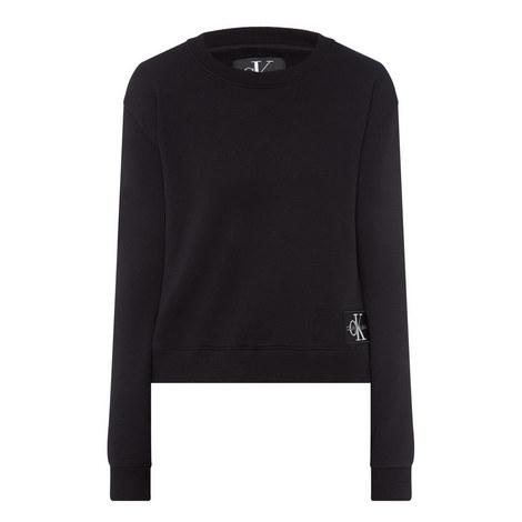 Boxy Logo Sweatshirt, ${color}