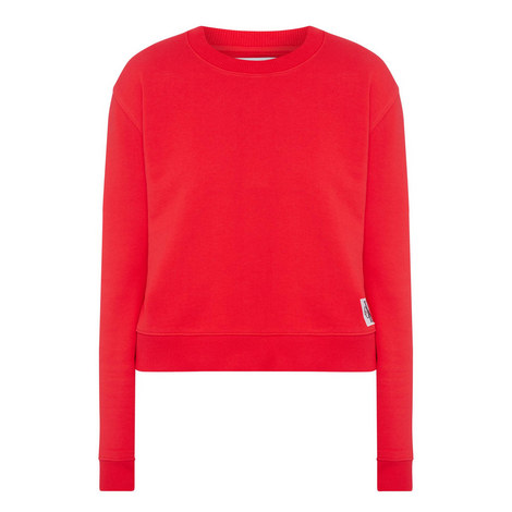 Boxy Logo Sweat Top, ${color}