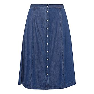 Midi Button Skirt