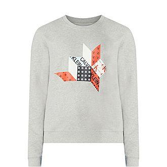 Quilt Graphic Sweatshirt