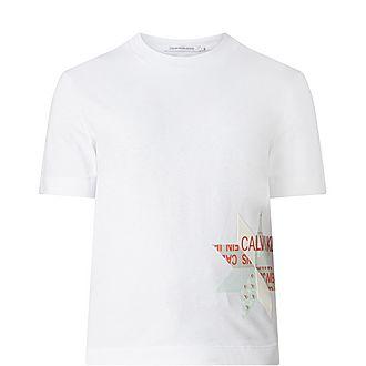 Slim Fit Patchwork T-Shirt
