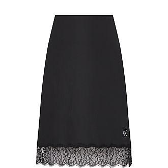 Slip Lace Trim Skirt