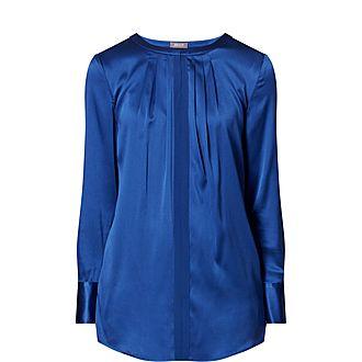 Pleat Silk Shirt