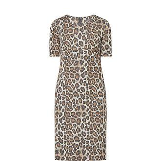 Leopard Print Lurex Dress