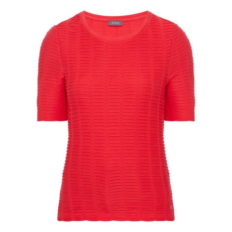 Textured Knit T-Shirt, ${color}