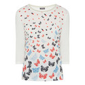 Butterfly Print Top, ${color}