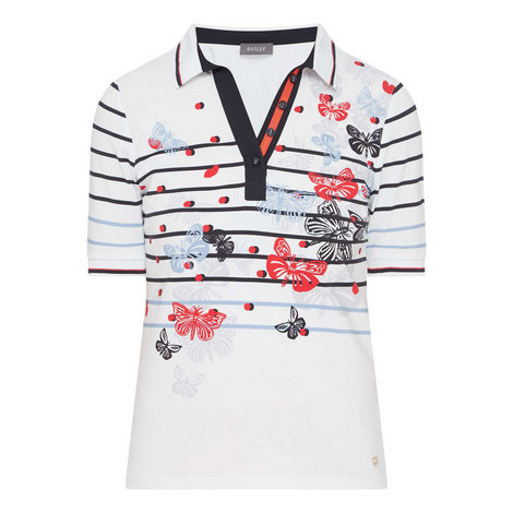 Stripe Polo T-Shirt, ${color}