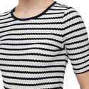 Short Sleeve Striped Top, ${color}