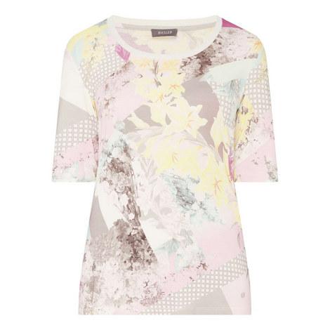 Floral Print Jersey T-Shirt, ${color}