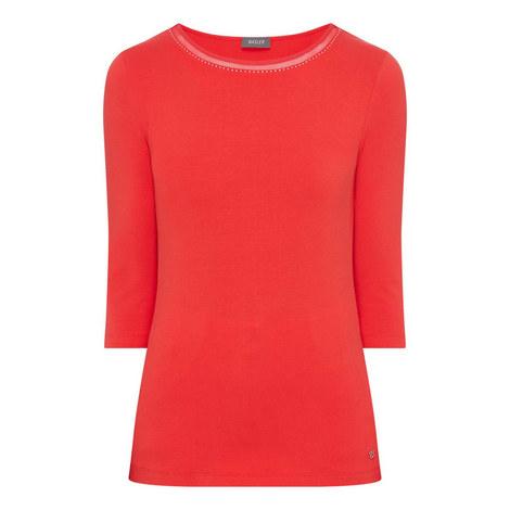 Rhinestone Neck T-Shirt, ${color}