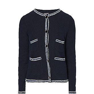 Striped Trim Woven Jacket
