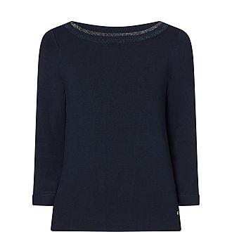 Metallic Trim Sweater