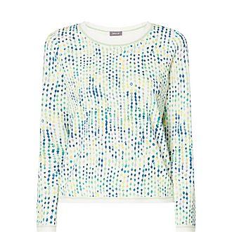 Long Sleeve Dot Print Sweater