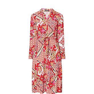 Pattern Midi Dress
