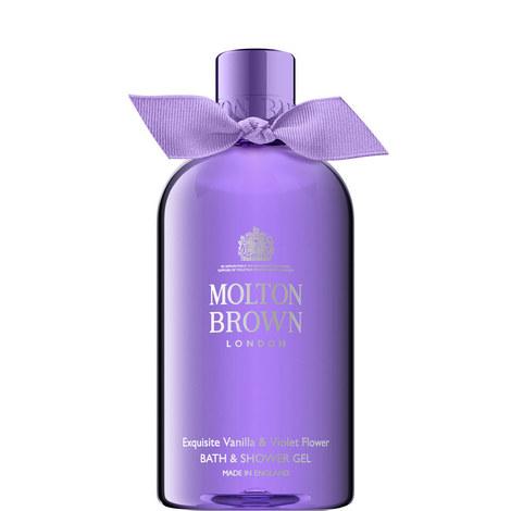 Exquisite Vanilla & Violet Flower Bath & Shower Gel 300ml, ${color}