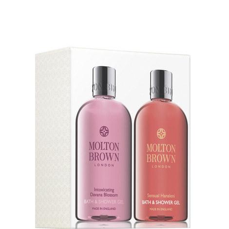 Intoxicating Davana Blossom & Sensual Hanaleni Bath & Shower Gel Set, ${color}