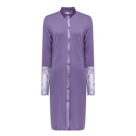 Romance Lace Pyjama Shirt, ${color}
