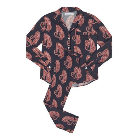 Sansindo Tiger Print Pyjama Set, ${color}