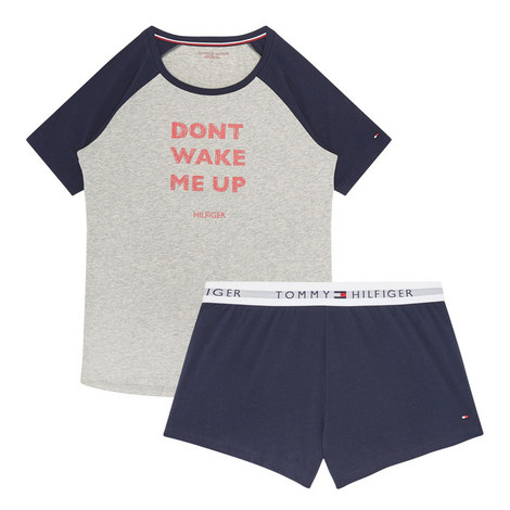 Slogan Pyjama Set, ${color}