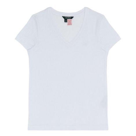 V-Neck Logo T-Shirt, ${color}
