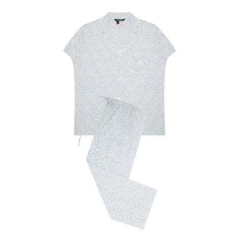 Short Sleeve Floral Pyjama Set, ${color}
