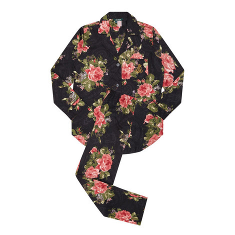 Floral Print Pyjama Set, ${color}