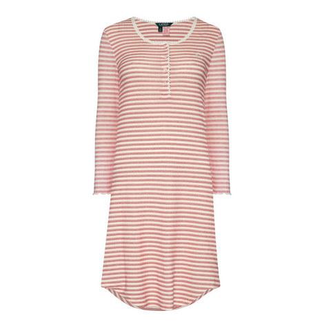 Stripe Print Night Dress, ${color}