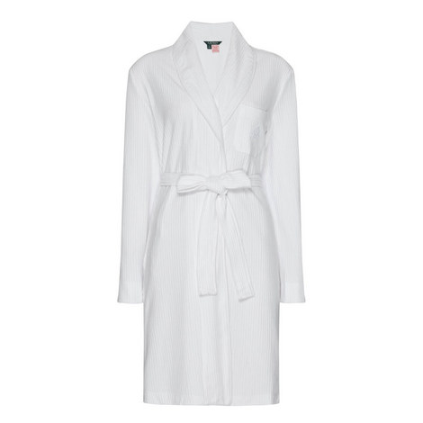 Seersucker Cotton Robe, ${color}