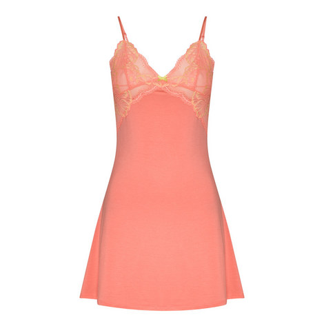Sabine Lace-Trimmed Chemise, ${color}