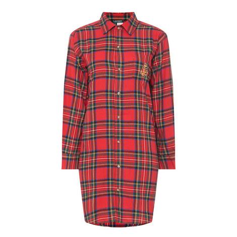 Classic Woven Check Sleepshirt, ${color}